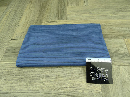 Denim/Black ANTHONY Stripes - RCPS 180gsm - By The Yard