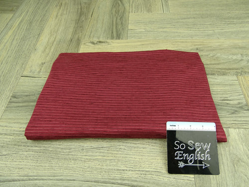 Burgundy/Black ANTHONY Stripes - RCPS 180gsm - By The Yard