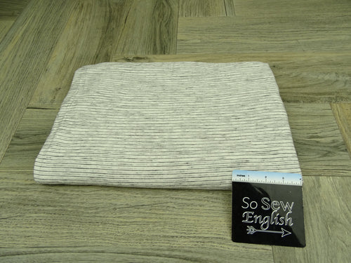 Ivory/Black ANTHONY Stripes - RCPS 180gsm - By The Yard