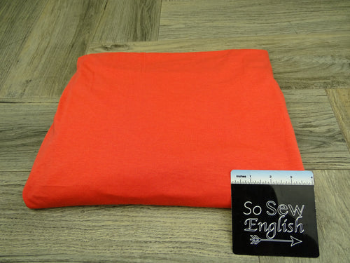 Solid Salmon -Cotton Modal Spandex - By The Yard