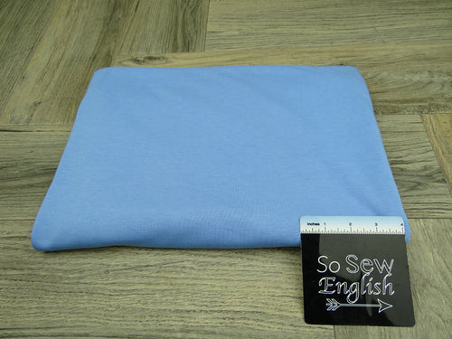 Solid Blue -Cotton Modal Spandex - By The Yard