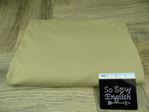 Solid Sandstone -Modal Cotton French Terry - By the yard