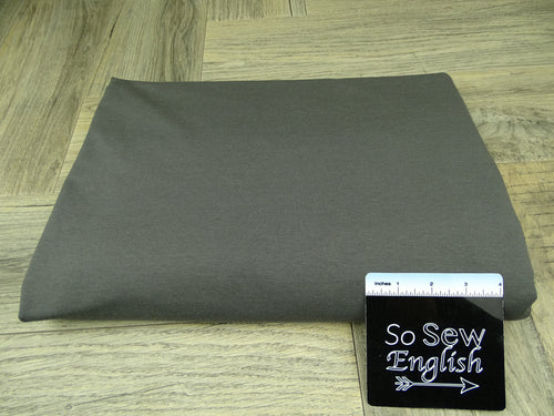 Solid Metal Grey -Modal Cotton French Terry - By the yard