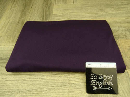 Solid Deep Purple -Modal Cotton French Terry - By the yard