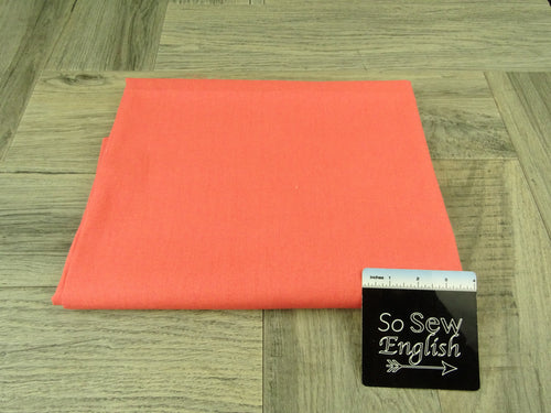 Coral LINEN- WOVEN - By the yard