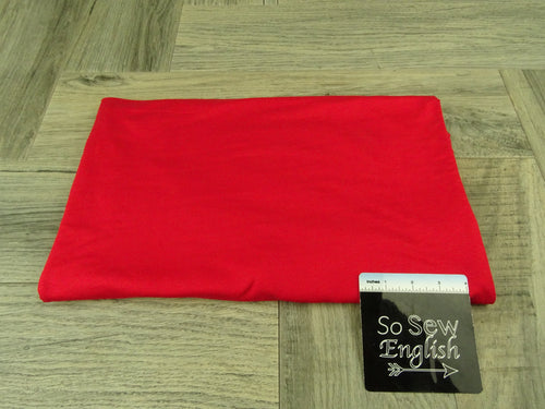 Solid RED- Micro Modal Spandex - By the yard