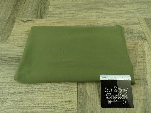 Solid DARK OLIVE- Micro Modal Spandex - By the yard