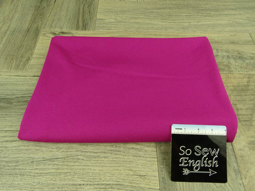 Solid Magenta  -PONTE Knit - By The Yard