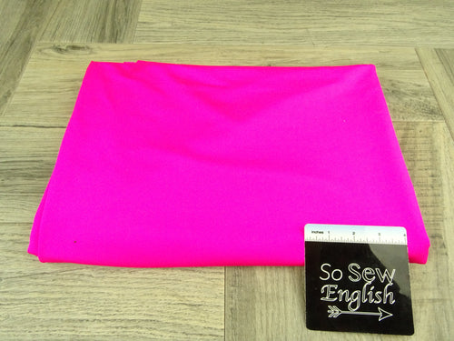 Bright Neon Pink -Nylon Tricot Swim -By The Yard