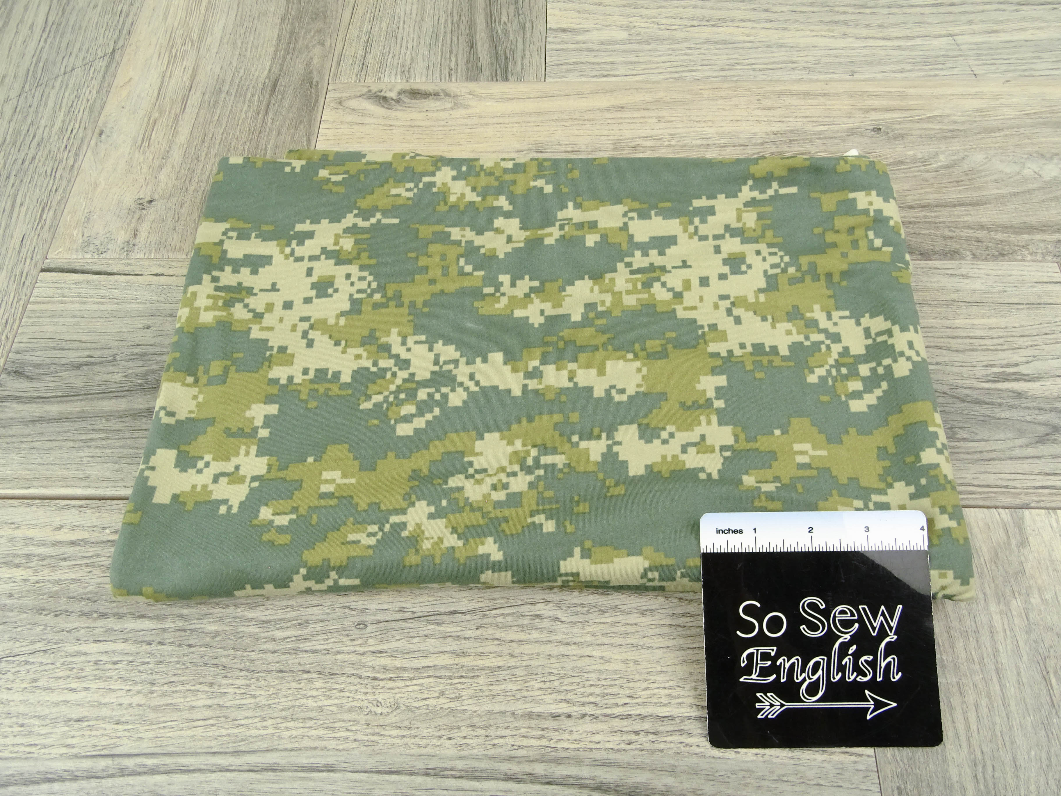 Sage DIGITAL CAMO- Double Brushed Poly Spandex -By The Yard