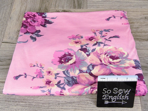 Pink PATIENCE - Rayon Spandex -By the yard