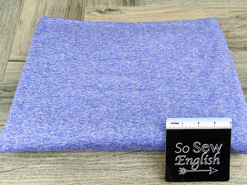 Space Dye Heather Royal- 260GSM 89/11 PERFORMANCE -By The Yard
