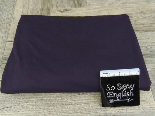 Solid Deep Purple- 325 gsm Brushed PERFORMANCE 88/12 -By The Yard