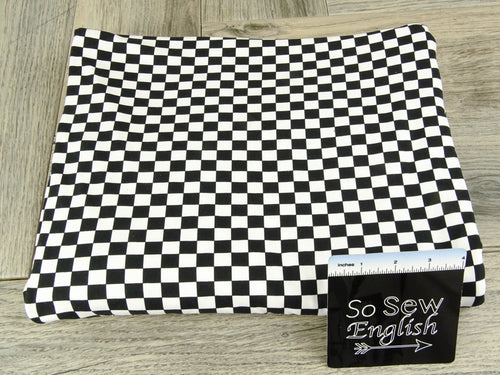 Little CHECKED - Double Brushed Poly Spandex -By The Yard