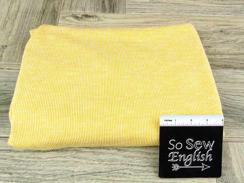 Mustard -Sandwashed Rib Knit - By The Yard