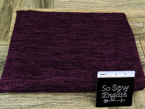 Heathered Purple - Brushed Hacci Sweater Knit - By The Yard