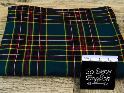 Hunter GAVIN Plaid - Double Brushed Poly Spandex -By The Yard