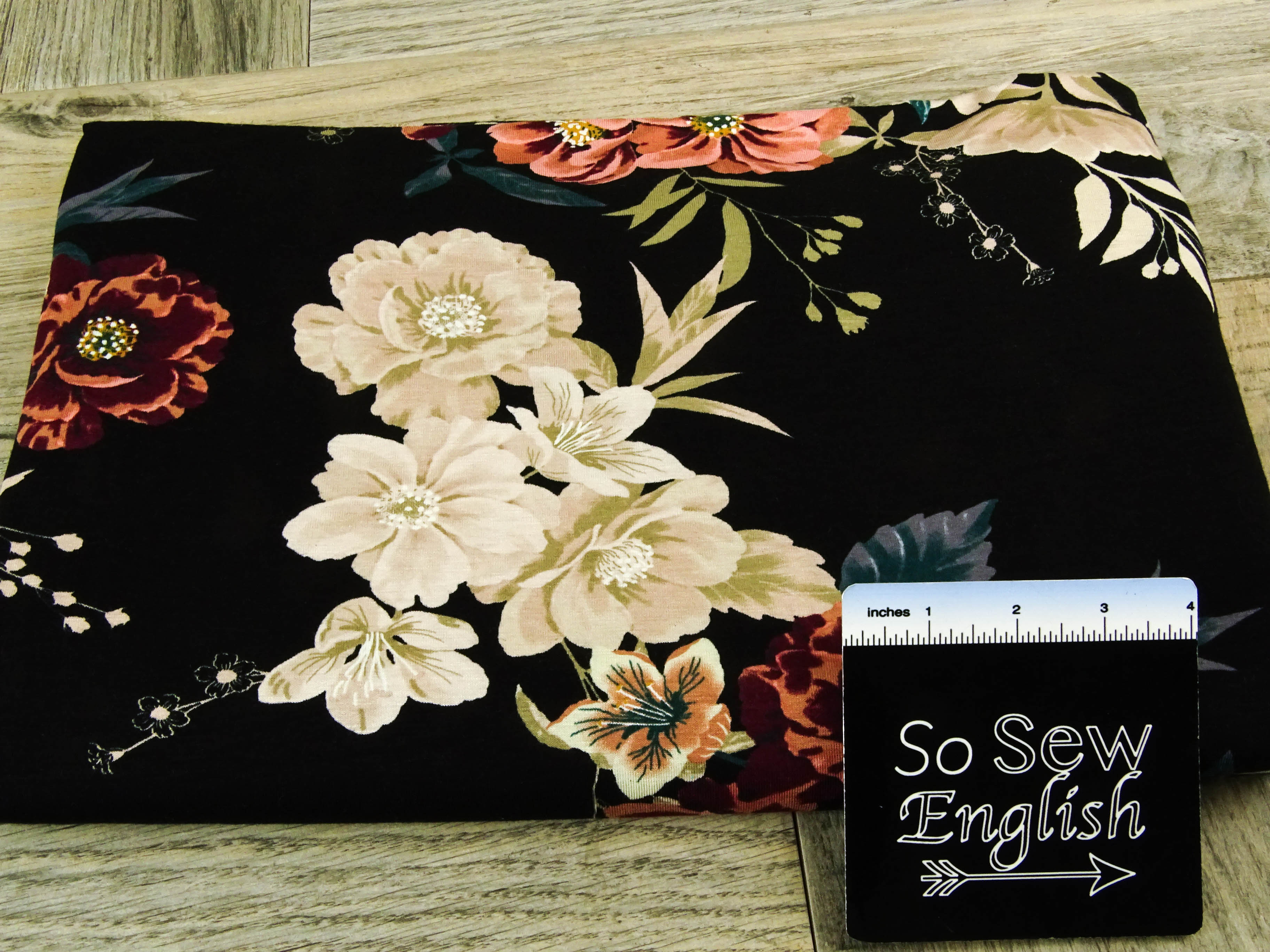 Black ELOISE - Rayon Spandex -By the yard
