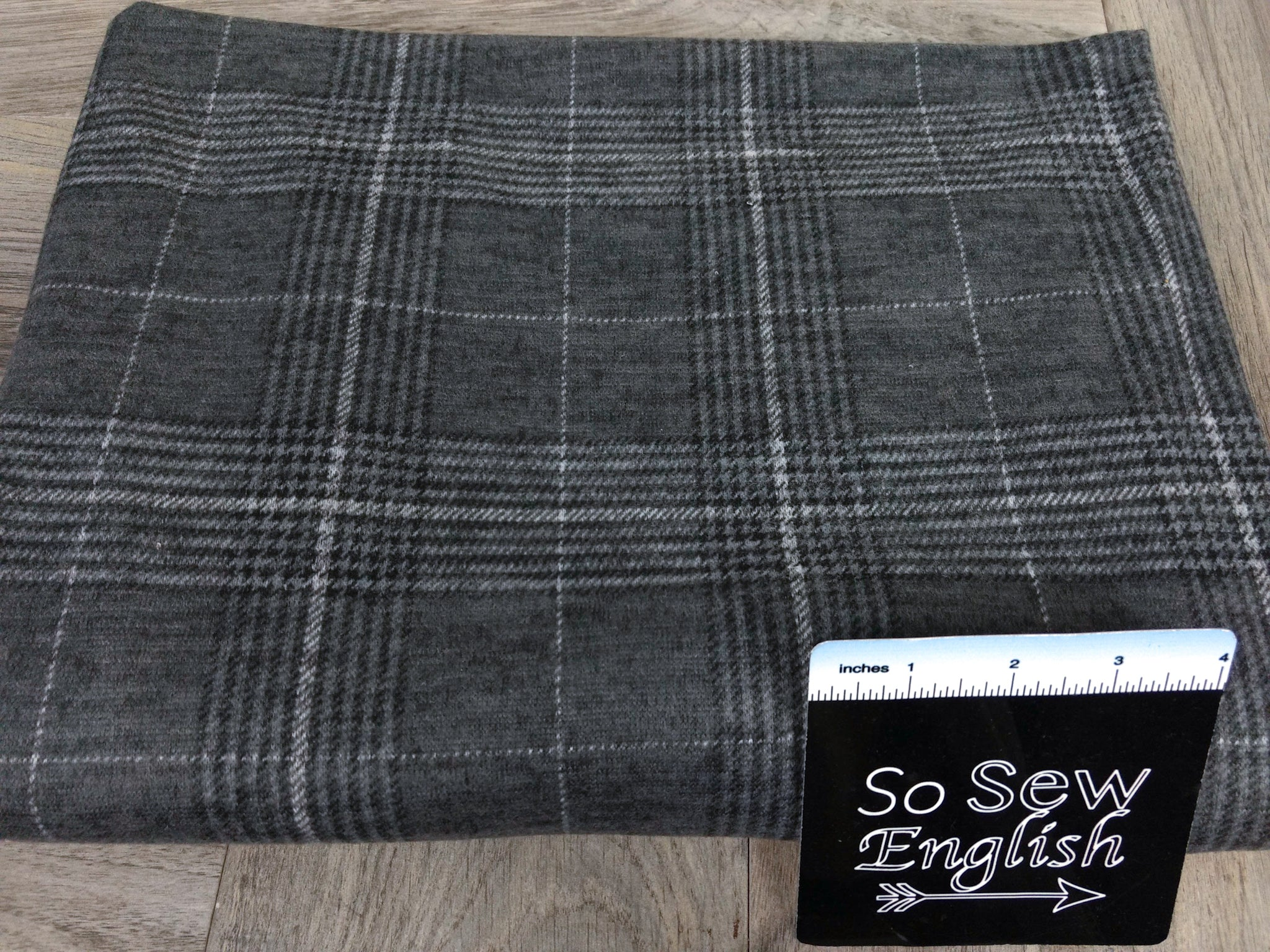 Grey ERIC Plaid - Brushed Hacci - By The Yard