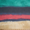 Navy/Teal/Pink Watercolor Stripe  - French Terry- By the yard