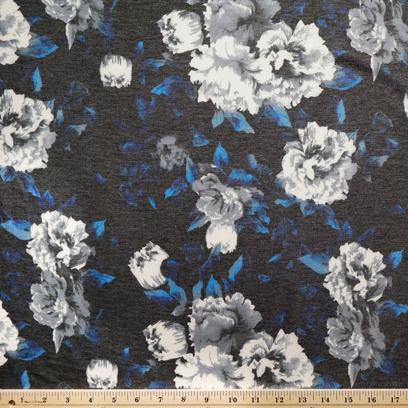 Soft Black RILEY - French Terry- By the yard