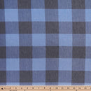 Navy/Periwinkle BUFFALO PLAID -French Terry- By the yard