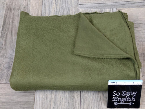 "Solid OLIVE -""Sherpa"" 230gsm- By The Yard"