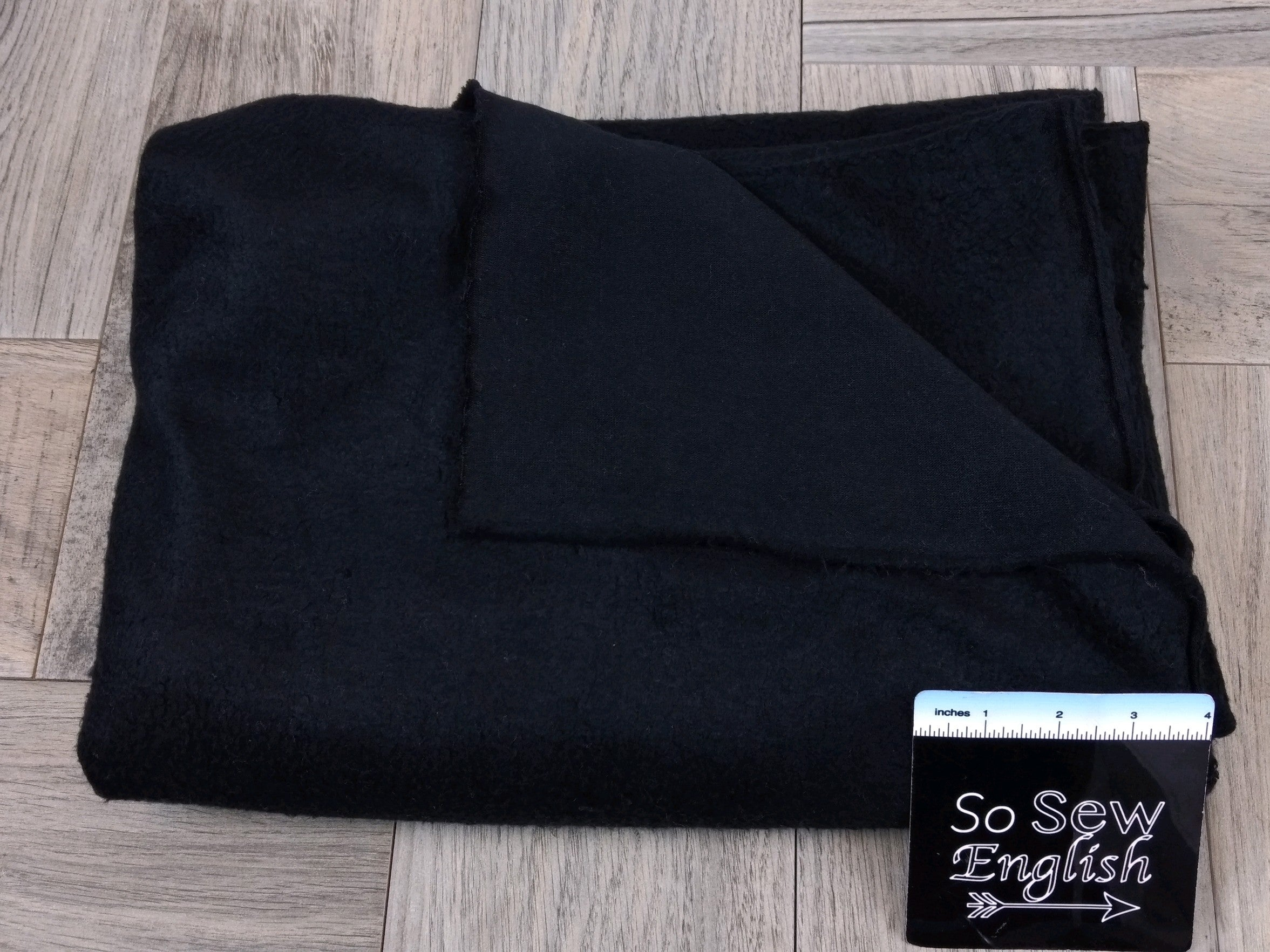 "Solid BLACK -""Sherpa"" 230gsm- By The Yard"