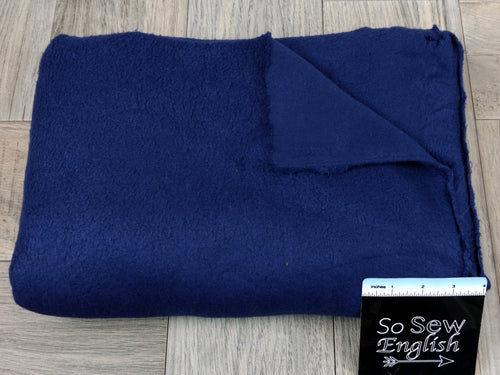 "Solid NAVY -""Sherpa"" 230gsm- By The Yard"