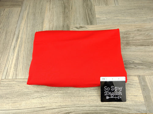 Solid  Bright Red -PONTE Knit - By The Yard