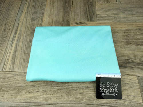 Solid Aqua -PONTE Knit - By The Yard