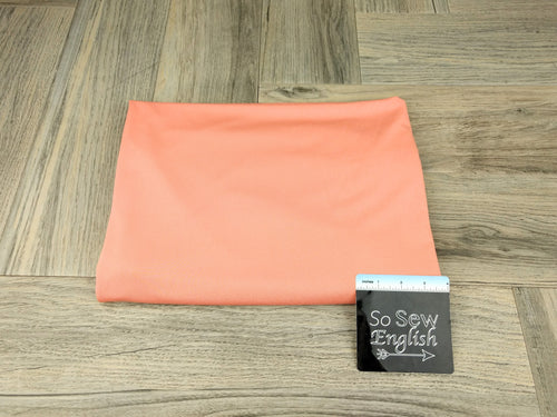Solid Coral- Poly Crepe Jersey -By the yard