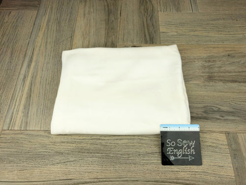 Solid IVORY - Rayon Challis WOVEN - By the yard