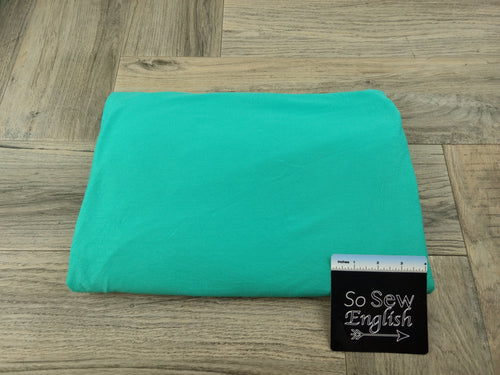 SOLID AQUA - Heavy Rayon Spandex Knit - By the yard