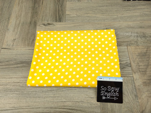 Yellow POLKA DOT - Rayon Challis WOVEN - By the yard