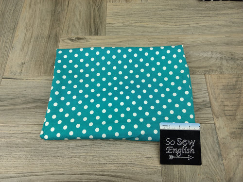 Jade POLKA DOT - Rayon Challis WOVEN - By the yard