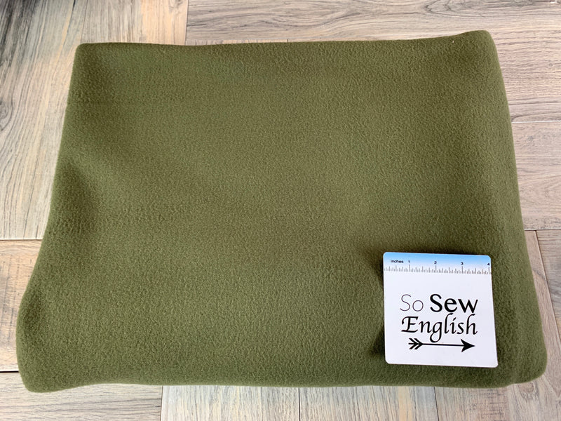 Earth Green- Military Grade Polar Fleece - By the yard