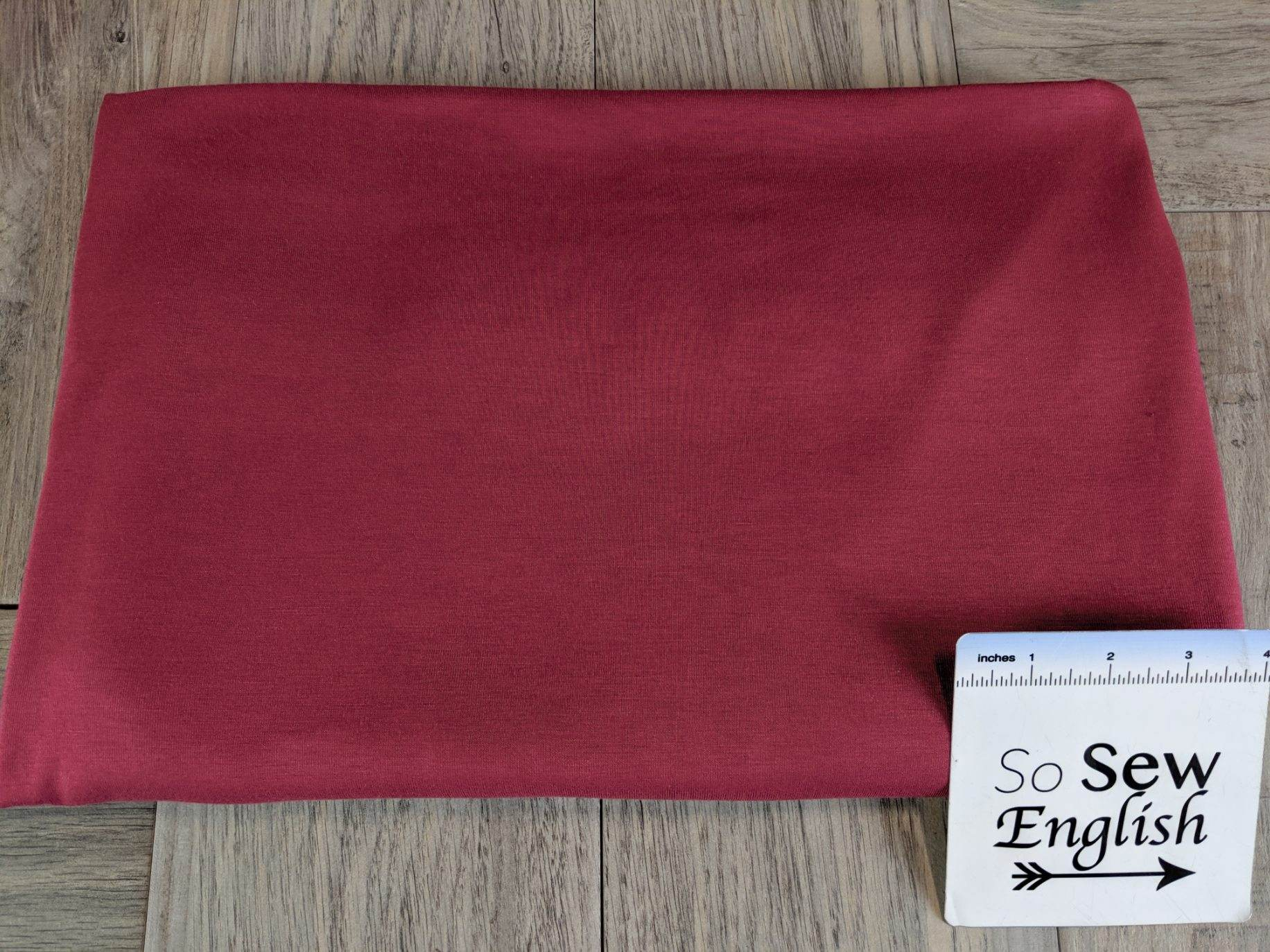Solid Tibetian Red -Viscose from Bamboo Spandex- By the yard