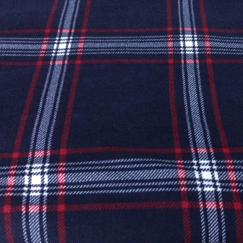 Navy/Red GRAHAM Plaid - Hacci - By The Yard