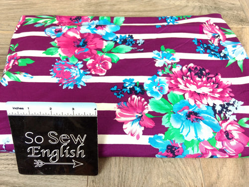 Plum/Fuchsia LESLEY - Modal Spandex - By the yard