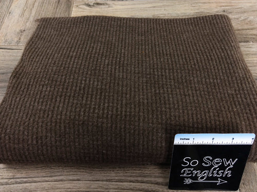 Solid Mocha-Brushed Waffle Knit - By the yard