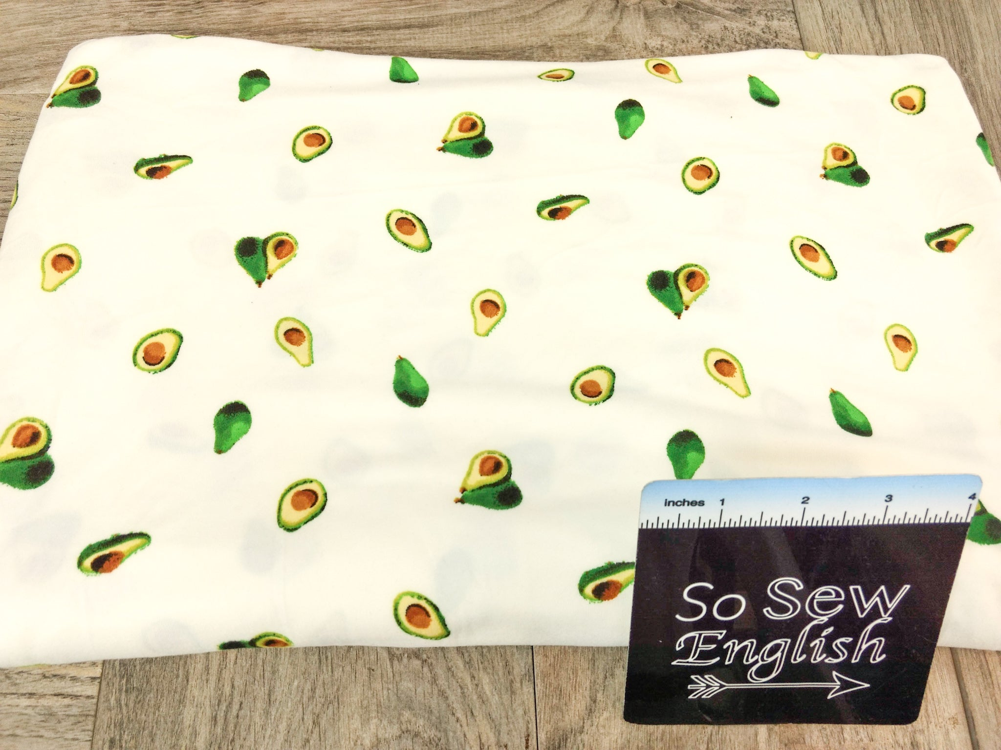 Ivory AVOCADO - Double Brushed Poly Spandex -By The Yard