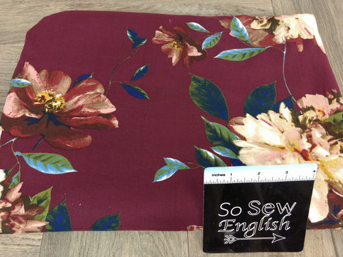 Wine SEARLETT - Double Brushed Poly Spandex -By The Yard