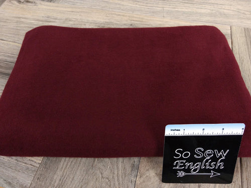 Solid Burgundy - Brushed Hacci - By The Yard