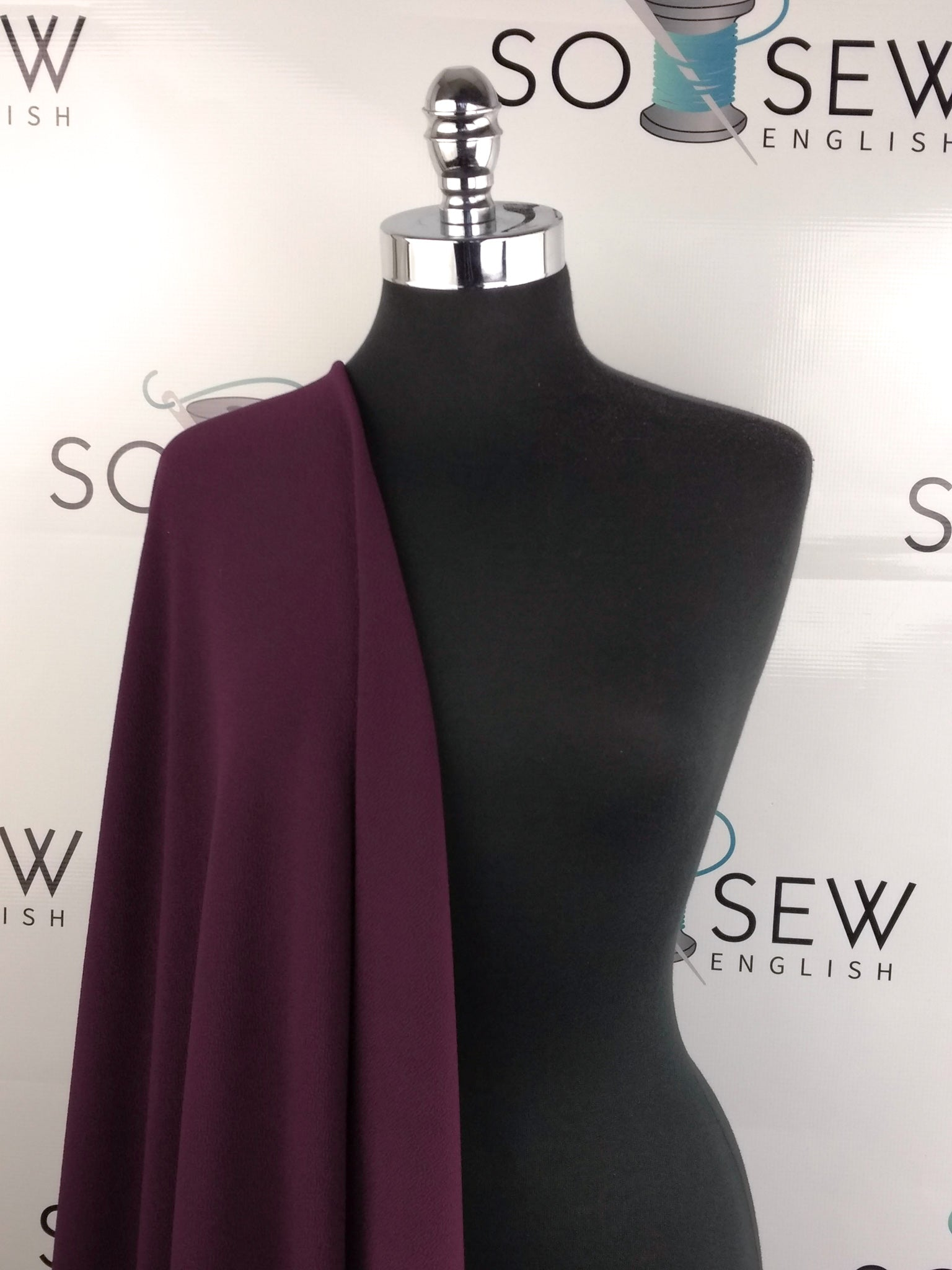 Solid Burgundy - Crepe Scuba Knit -By The Yard