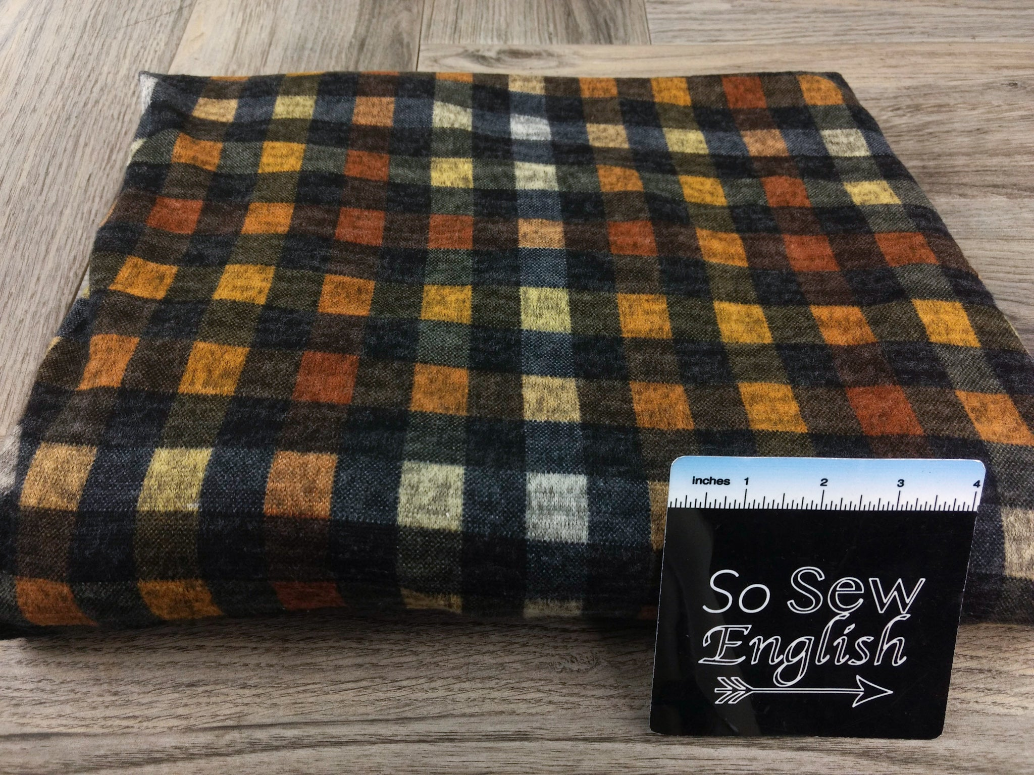 Mustard CALAN Plaid - Hacci - By The Yard