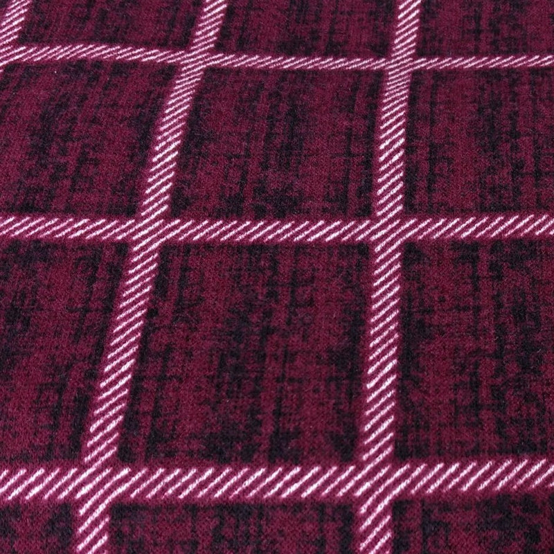 Ruby Distressed Square Plaid -Hacci- By The Yard