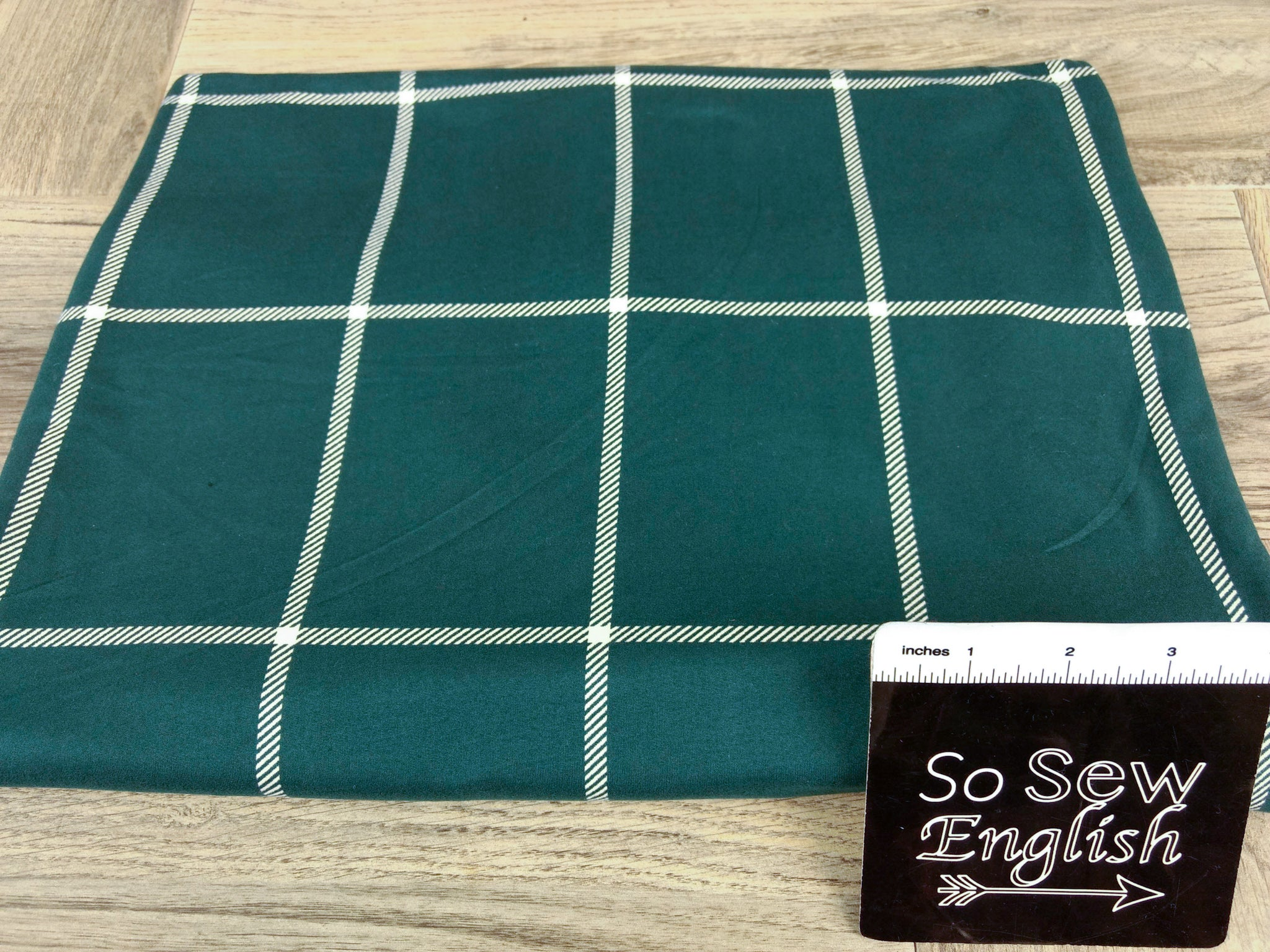 Hunter LARGE WINDOWPANE - Double Brushed Poly Spandex -By The Yard