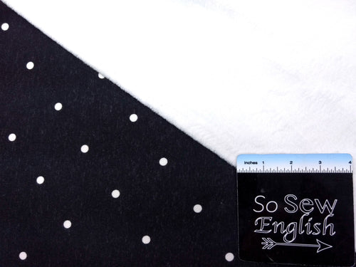 BLACK POLKA DOTS - SUPER PLUSH - By the yard