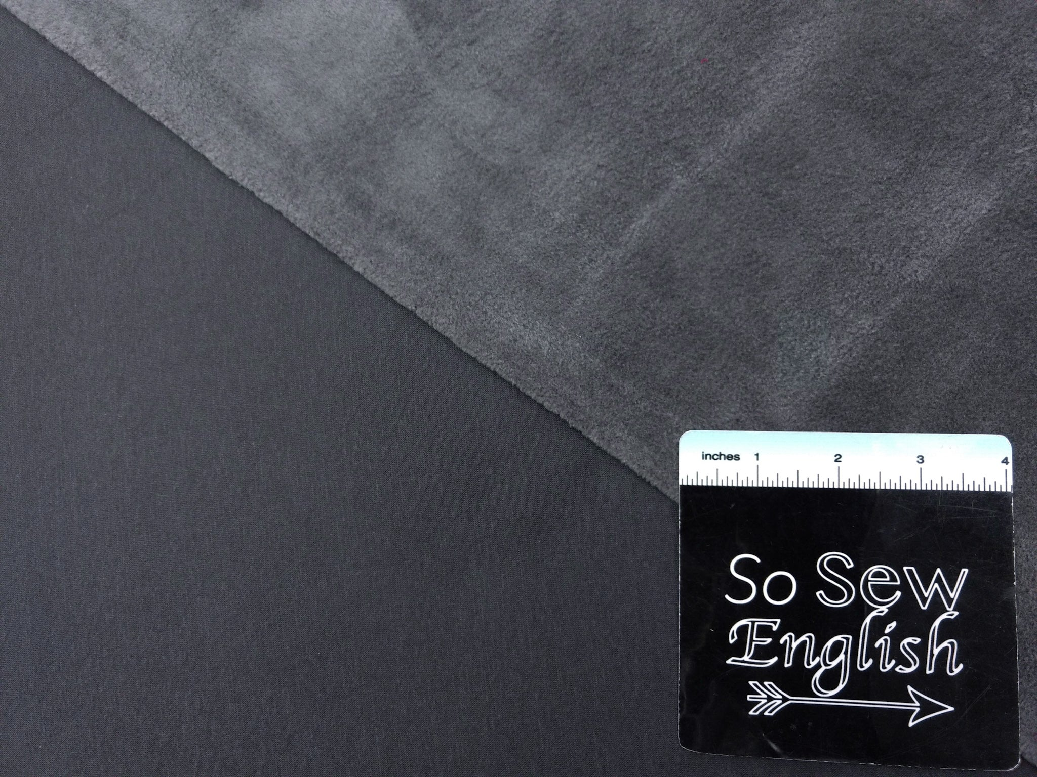 Solid Charcoal- SUPER PLUSH - By the yard